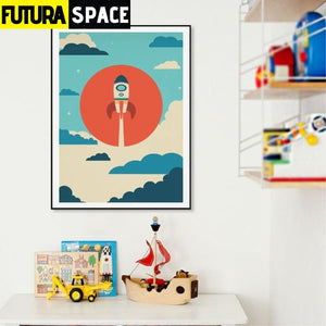 SPACE POSTER - Spaceship Wall Art - 1704