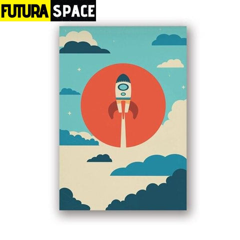 SPACE POSTER - Spaceship Wall Art - 13x18 cm No Frame /
