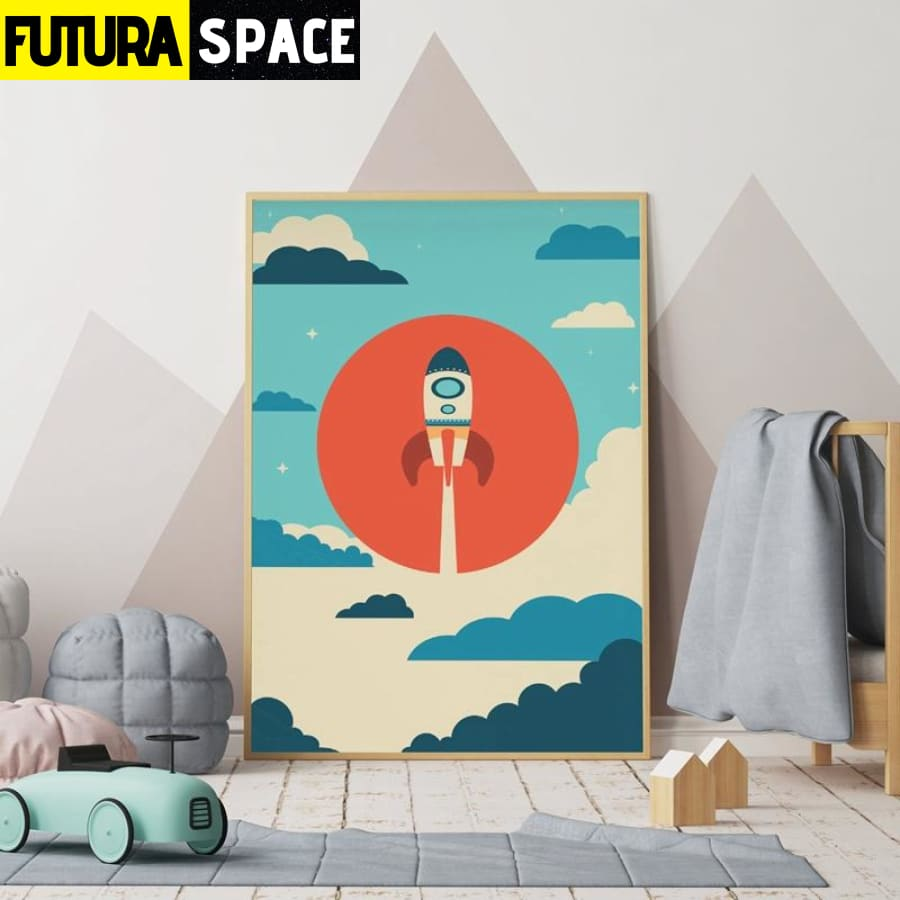 SPACE POSTER - Spaceship Wall Art