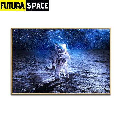 SPACE POSTER - Spaceship Wall - 10x15 CM UNframed / White -