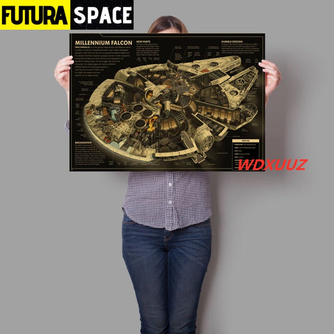SPACE POSTER - Star Wars spaceship - 21cmX30cmA4 No Frame /