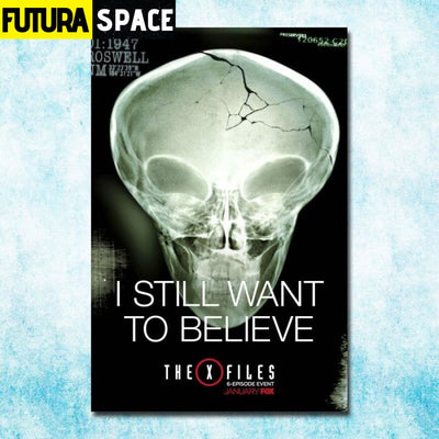 SPACE POSTER - THE X-FILES - 13x20inch silk cloth / click -