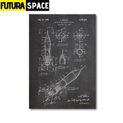SPACE POSTER - Vintage - 13x18 cm No Frame / PH1344 - 1704