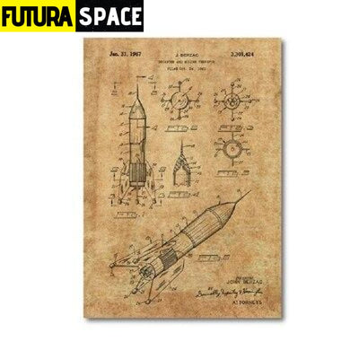 SPACE POSTER - Vintage - 13x18 cm No Frame / PH1346 - 1704