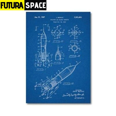 SPACE POSTER - Vintage - 13x18 cm No Frame / PH1345 - 1704