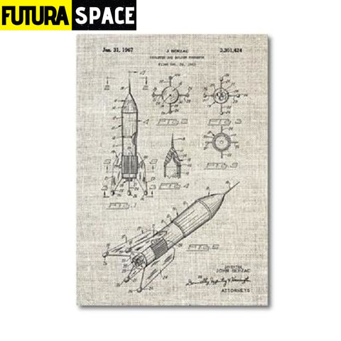 SPACE POSTER - Vintage - 13x18 cm No Frame / PH1342 - 1704