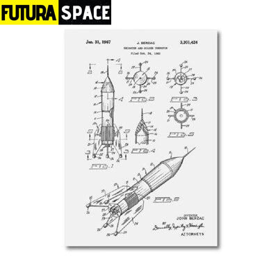 SPACE POSTER - Vintage - 13x18 cm No Frame / PH1343 - 1704