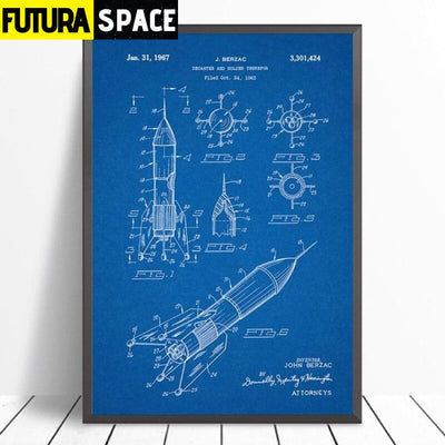 SPACE POSTER - Vintage - 1704