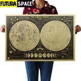 SPACE POSTER - World Map - 1704