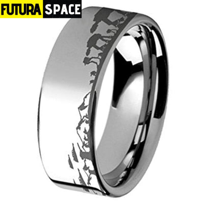 SPACE RING - BATTLE OF THE HOTH - 6 / SLIVER / 8MM -