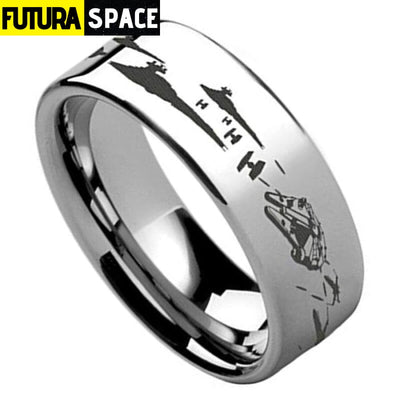 SPACE RING - BATTLE OF THE HOTH - 6 / SLIVER 2 / 8MM -