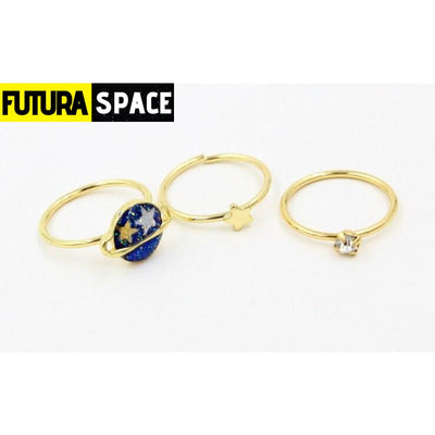 SPACE RING - BLUE STAR - 100007323