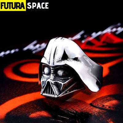 SPACE RING - DARTH VADER MASK - 7 / White - 100007323