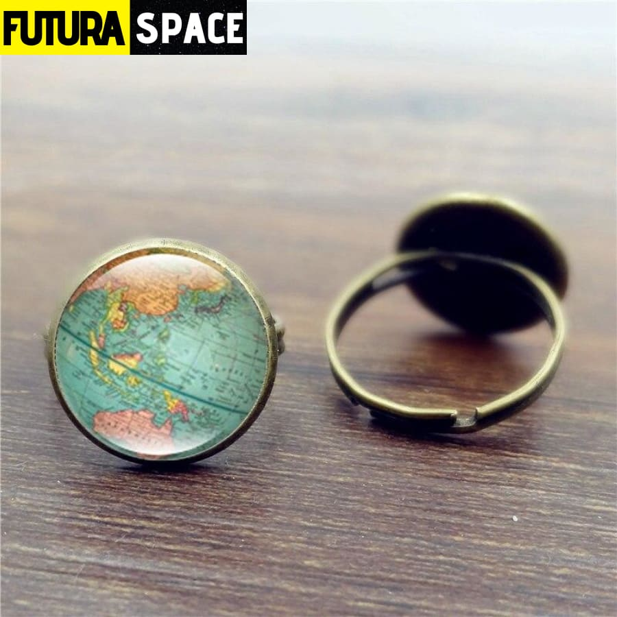 SPACE RING - EARTH - WORLD MAP