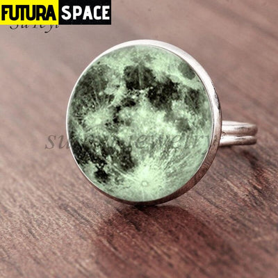 SPACE RING - GALAXY STAR - Resizable / silver 2 - 100007323