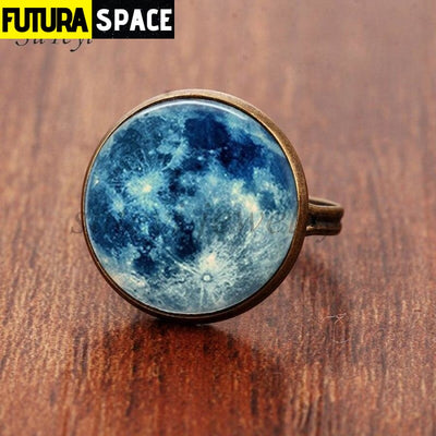SPACE RING - GALAXY STAR - Resizable / bronze - 100007323