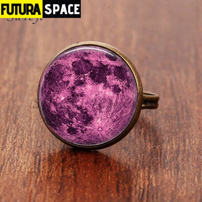 SPACE RING - GALAXY STAR - Resizable / bronze 4 - 100007323