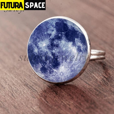 SPACE RING - GALAXY STAR - Resizable / silver 6 - 100007323