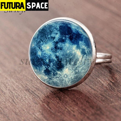 SPACE RING - GALAXY STAR - Resizable / silver - 100007323