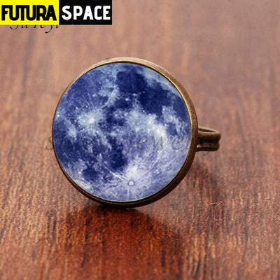 SPACE RING - GALAXY STAR - Resizable / bronze 6 - 100007323