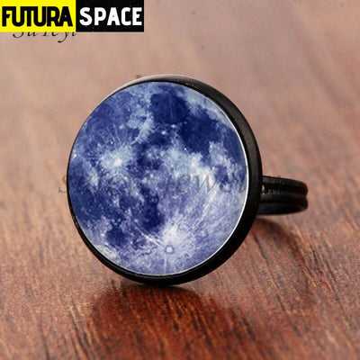 SPACE RING - GALAXY STAR - Resizable / black 6 - 100007323