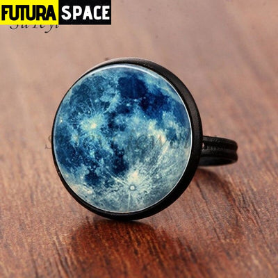 SPACE RING - GALAXY STAR - Resizable / black - 100007323