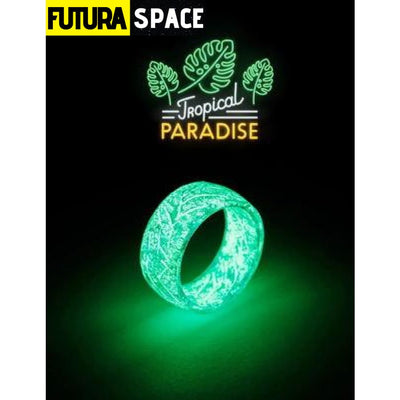 SPACE RING - OTHER WORLD - 6 / Green Luminous Ring -