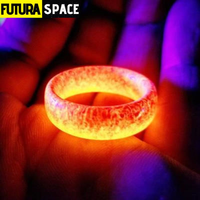 SPACE RING - OTHER WORLD - 6 / Red Glow Dark Ring -