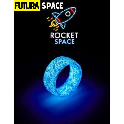 SPACE RING - OTHER WORLD - 6 / Bule Resin Ring - 100007323