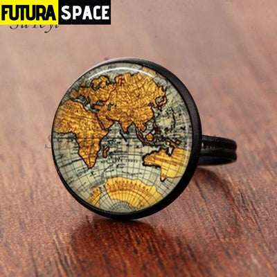 SPACE RING - PLANET EARTH - Resizable / black 5 - 100007323