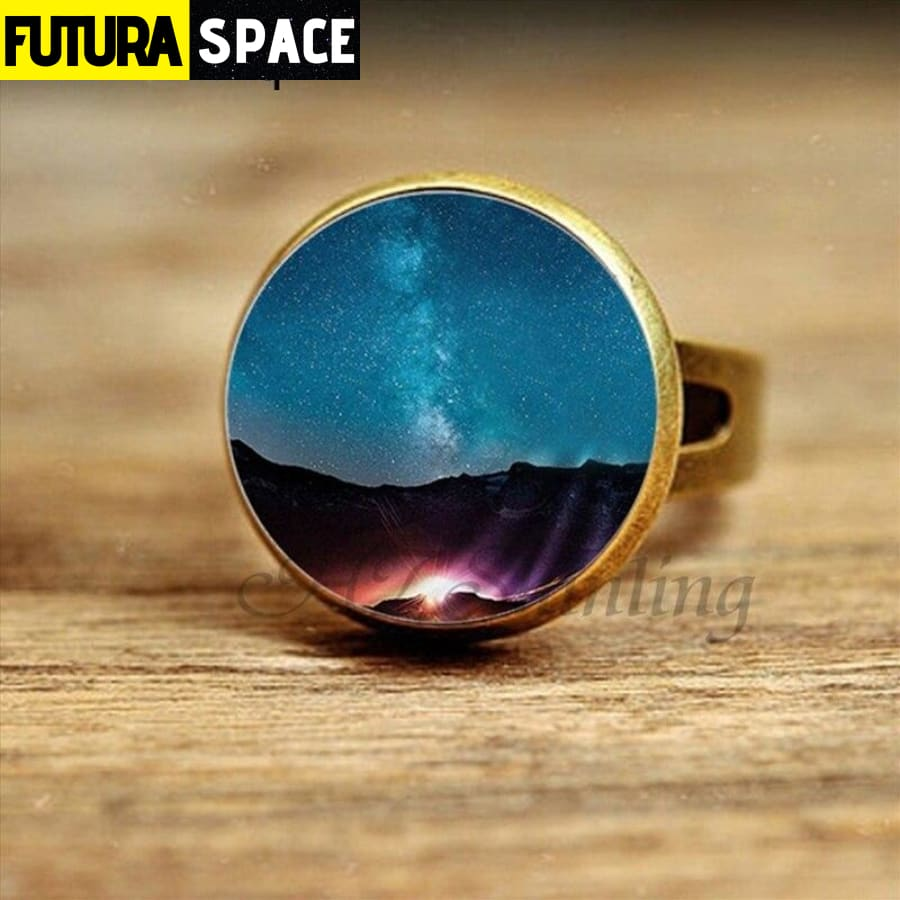 SPACE RING - STARS - Resizable / 5 - 100007323