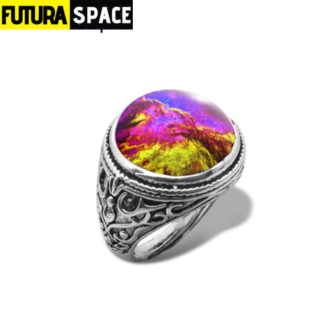 SPACE RING - UNIVERSE - Resizable / 1 / Gold-color -