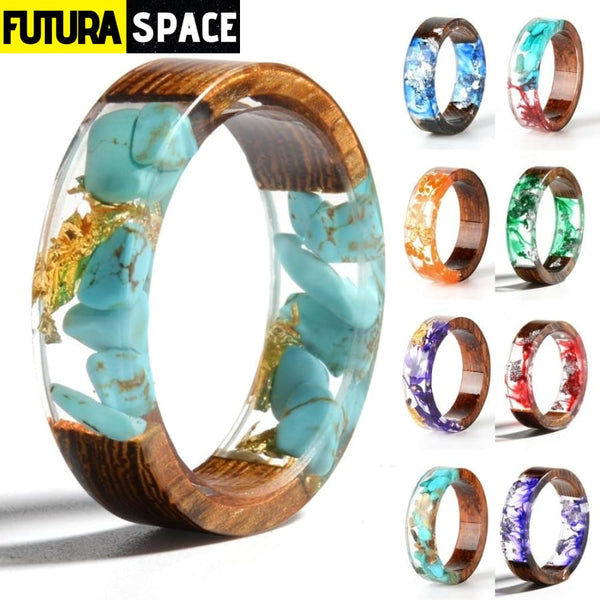 SPACE RING - WOOD RESIN - 100007323