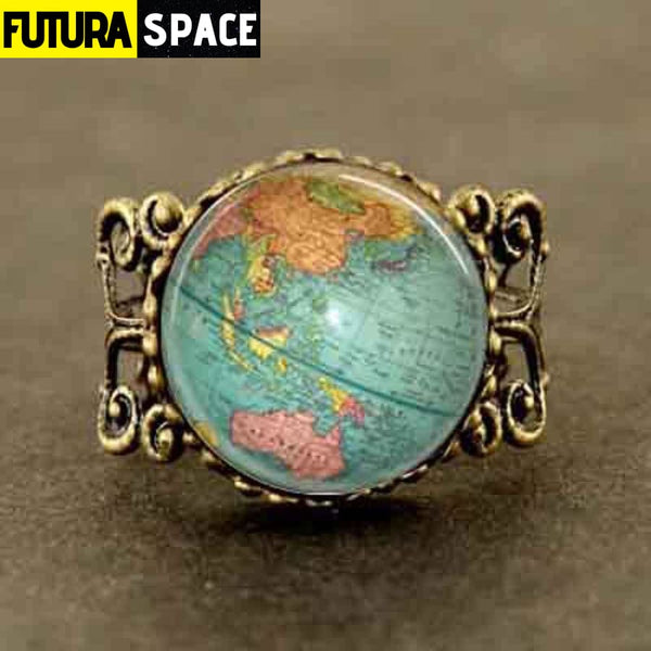 SPACE RING - WORLD MAP - Resizable - 100007323