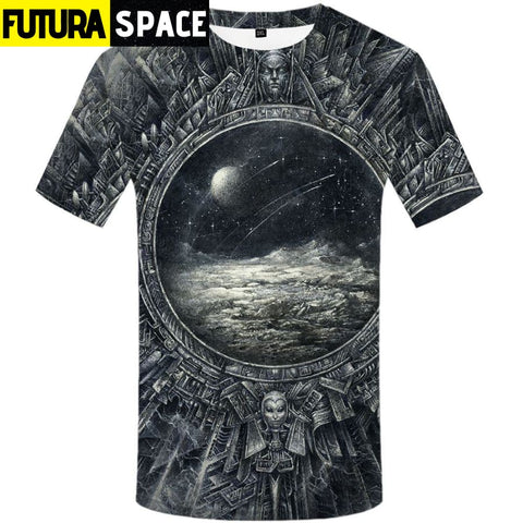 SPACE SHIRT - ALIENS PHASE - 3d t shirt 02 / S - 200000783