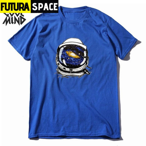 SPACE SHIRT - ASTRONAUT VIEW - CR-c0107CM-BL / XS -