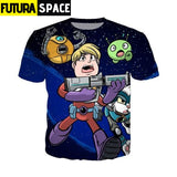 SPACE SHIRT - Final Space off white harajuku - 2 / Asian S -