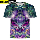 SPACE SHIRT - Galaxy space psychedelic floral - TX225 / S /
