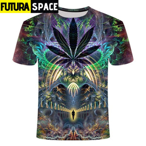 SPACE SHIRT - Galaxy space psychedelic floral - 200000783