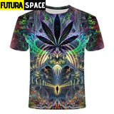 SPACE SHIRT - Galaxy space psychedelic floral - TX222 / S /