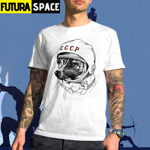 SPACE SHIRT - THE SPACE DOG ASTRONAUT - White / S -