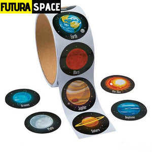 SPACE STICKERS - 1 Roll(100PCS)/LOT Outer space - 200003295