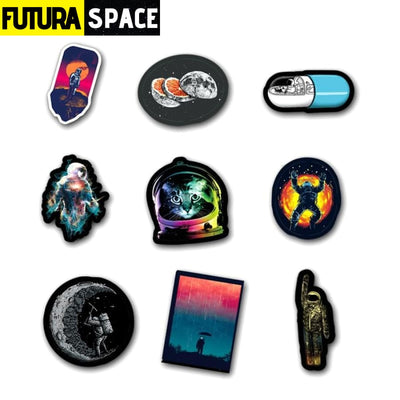 SPACE STICKERS - 100Pcs/Set Outer Space - 200003295