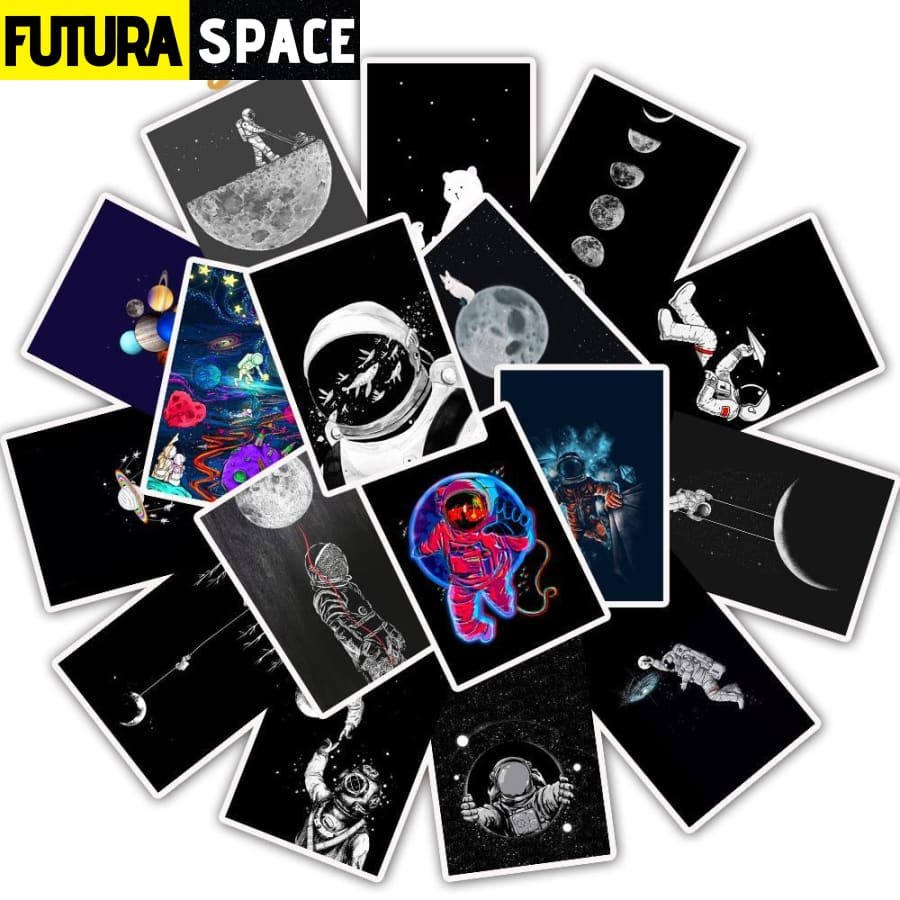 SPACE STICKERS - 25Pcs/Lot Astronaut
