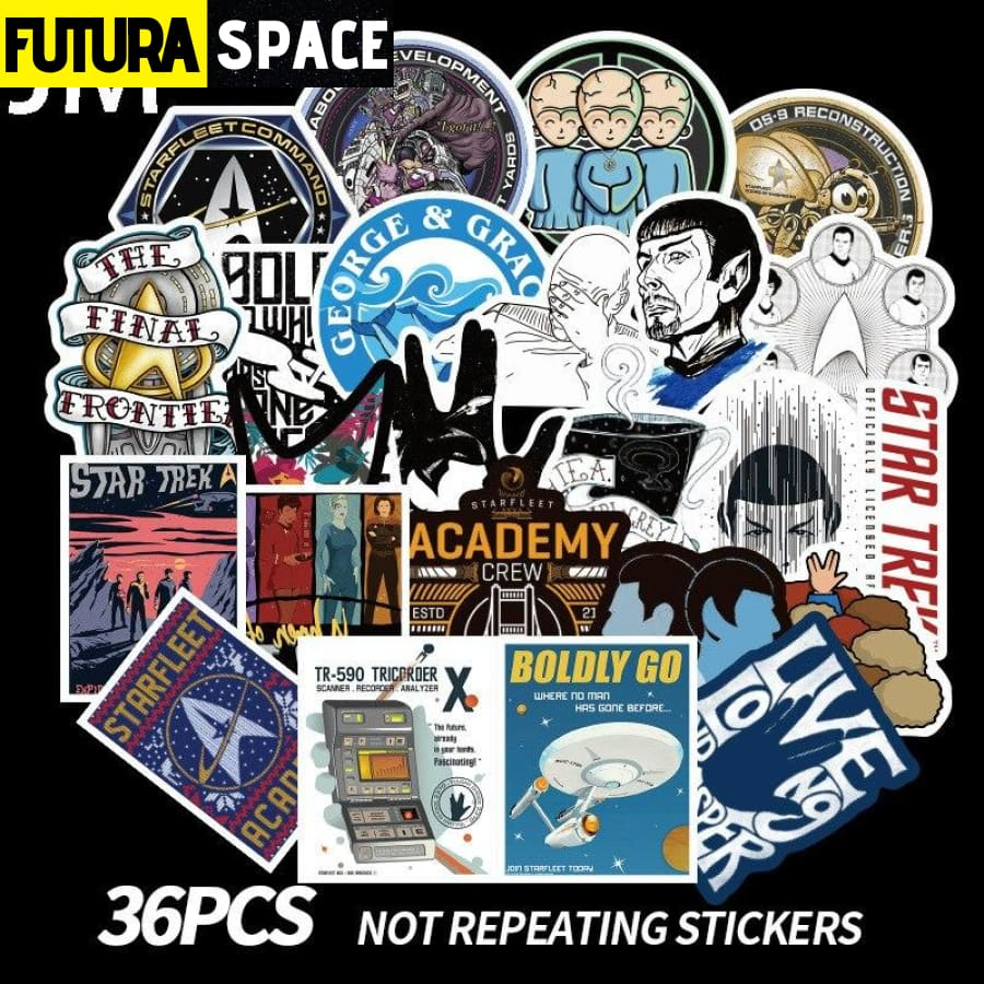 SPACE STICKERS - 36Pcs Star Trek