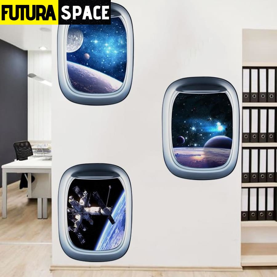 SPACE STICKERS - 3D Space Galaxy
