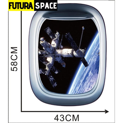 SPACE STICKERS - 3D Space Galaxy - C / 58x43cm - 200001461