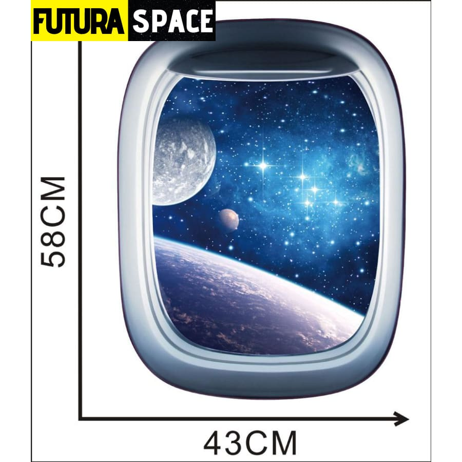 SPACE STICKERS - 3D Space Galaxy - A / 58x43cm - 200001461