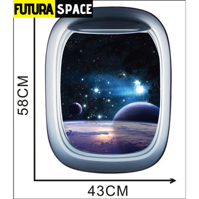 SPACE STICKERS - 3D Space Galaxy - B / 58x43cm - 200001461