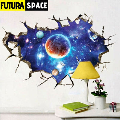 SPACE STICKERS - 3D Star Universe - Black - 200001461